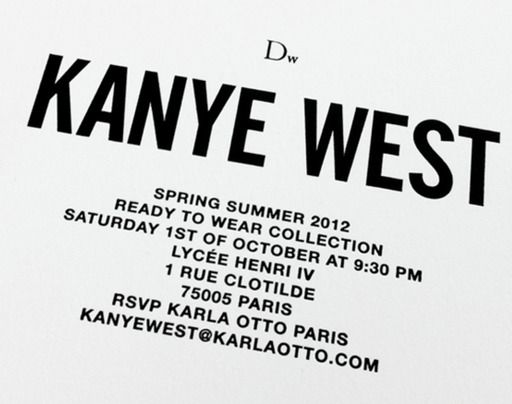 First Dw show by Kanye West in Paris