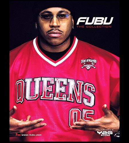 LL Cool J wearing a Queens jersey for Fubu